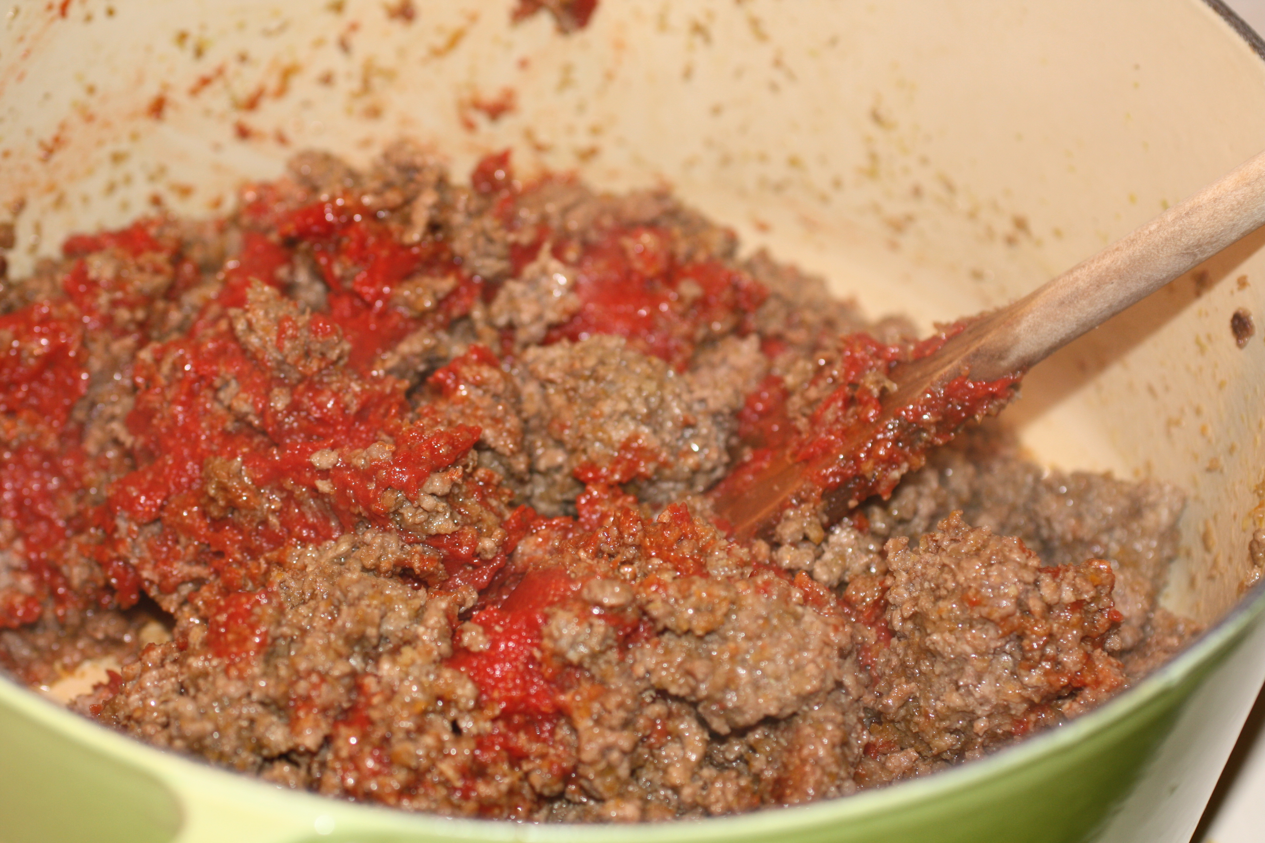 Browning the Tomato Paste